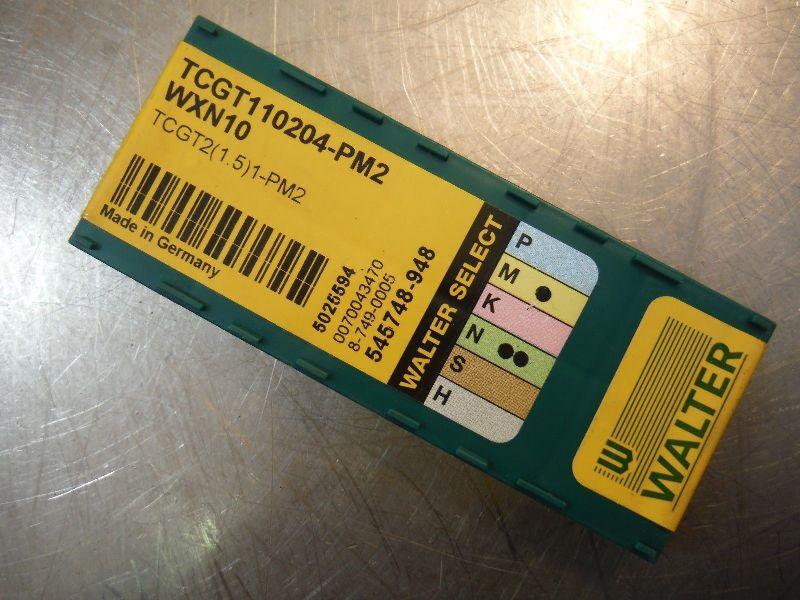 Walter Carbide Inserts Qty10 TCGT 110204 PM2 WXN10 (LOC2120A)