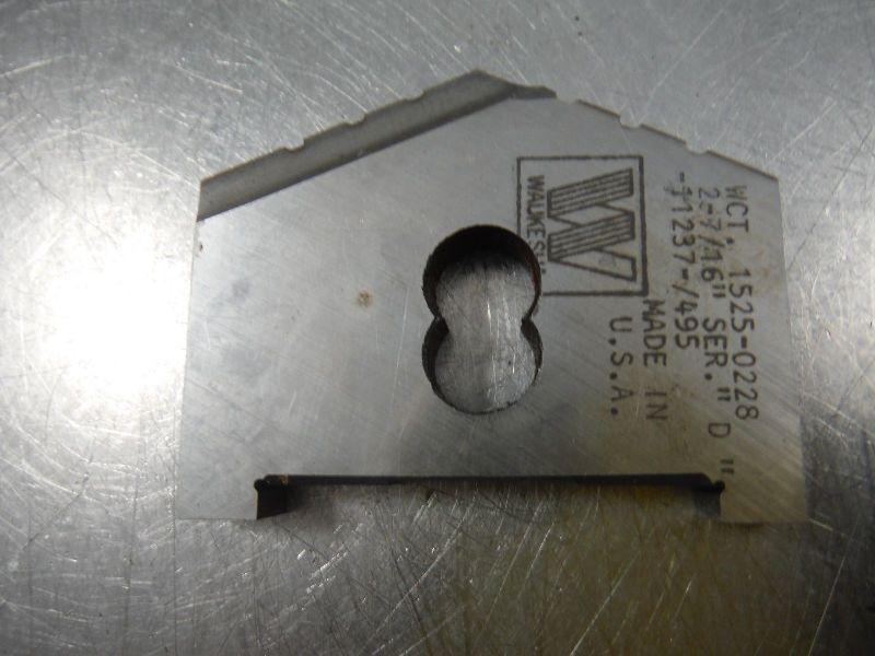 """Walter Waukesha 2-7/16"""" Series D Spade Drill Insert 1525 0228 (LOC2055A)"""