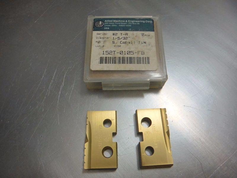 """AMEC Series #2 TA 1 5/32"""" Spade Drill Inserts Qty2 152T 0105 FB (LOC1069A)"""