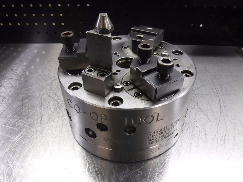 "CO-OP Tool 8"" 3 Jaw Hydraulic Power Lathe Chuck STN002808-6(X)D (LOC1953C)"
