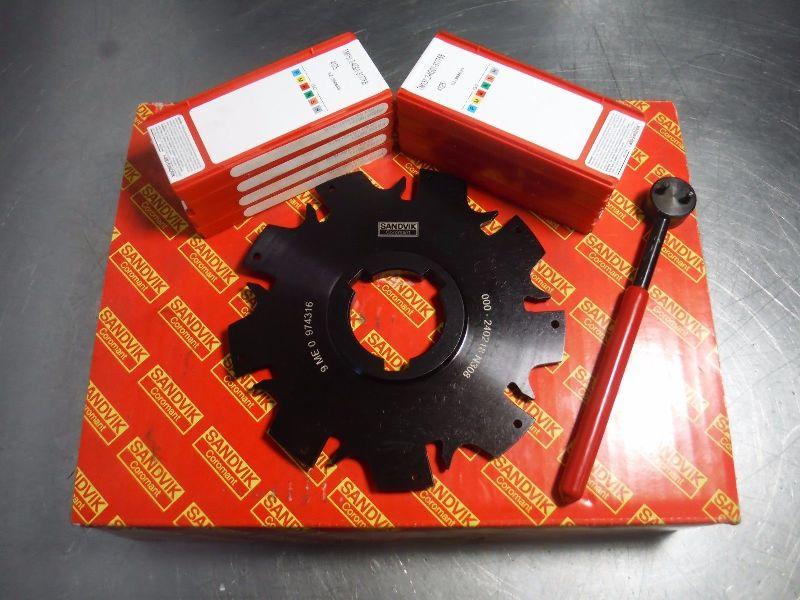 "Sandvik 5.5"" Slot Milling Cutter 1.5"" Arbor 000-240218 N308 w/Inserts (LOC1358A)"