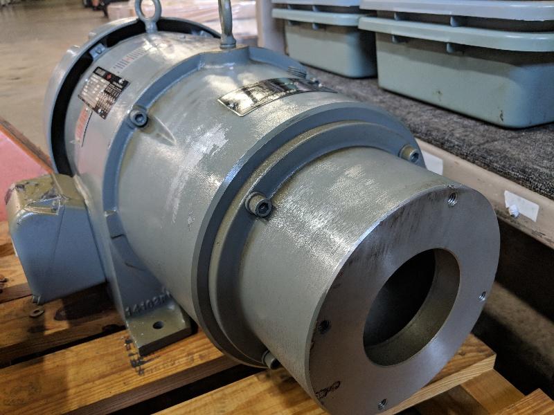 Reuland 7.5 HP 1200 RPM Hydraulic Pump Motor D000-44 0075E-1CAN-0045 (STK)