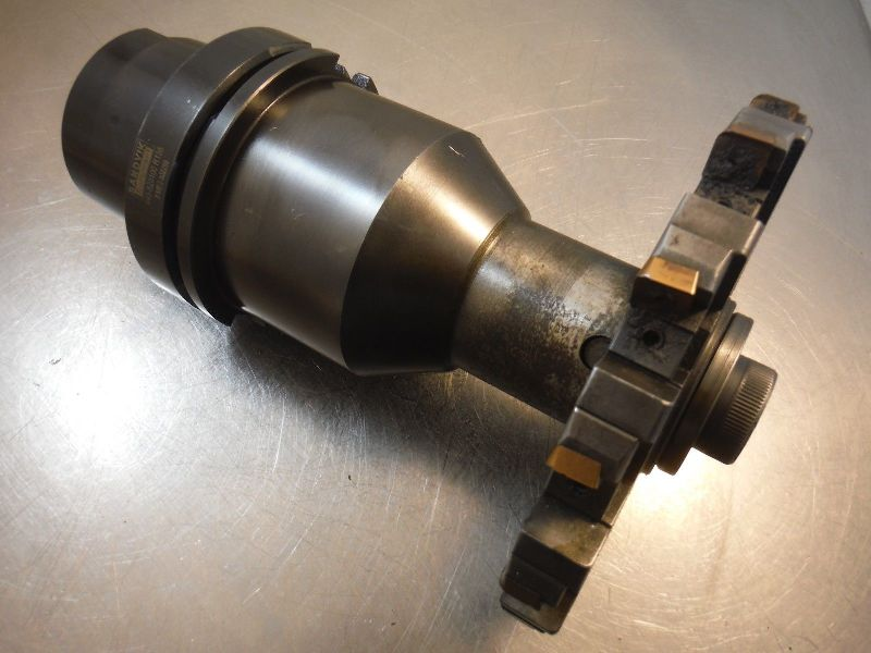 "Sandvik HSK100 40mm Milling Arbor 4.75"" PRO 440 820100 R135 w/ Cutter (LOC793A)"