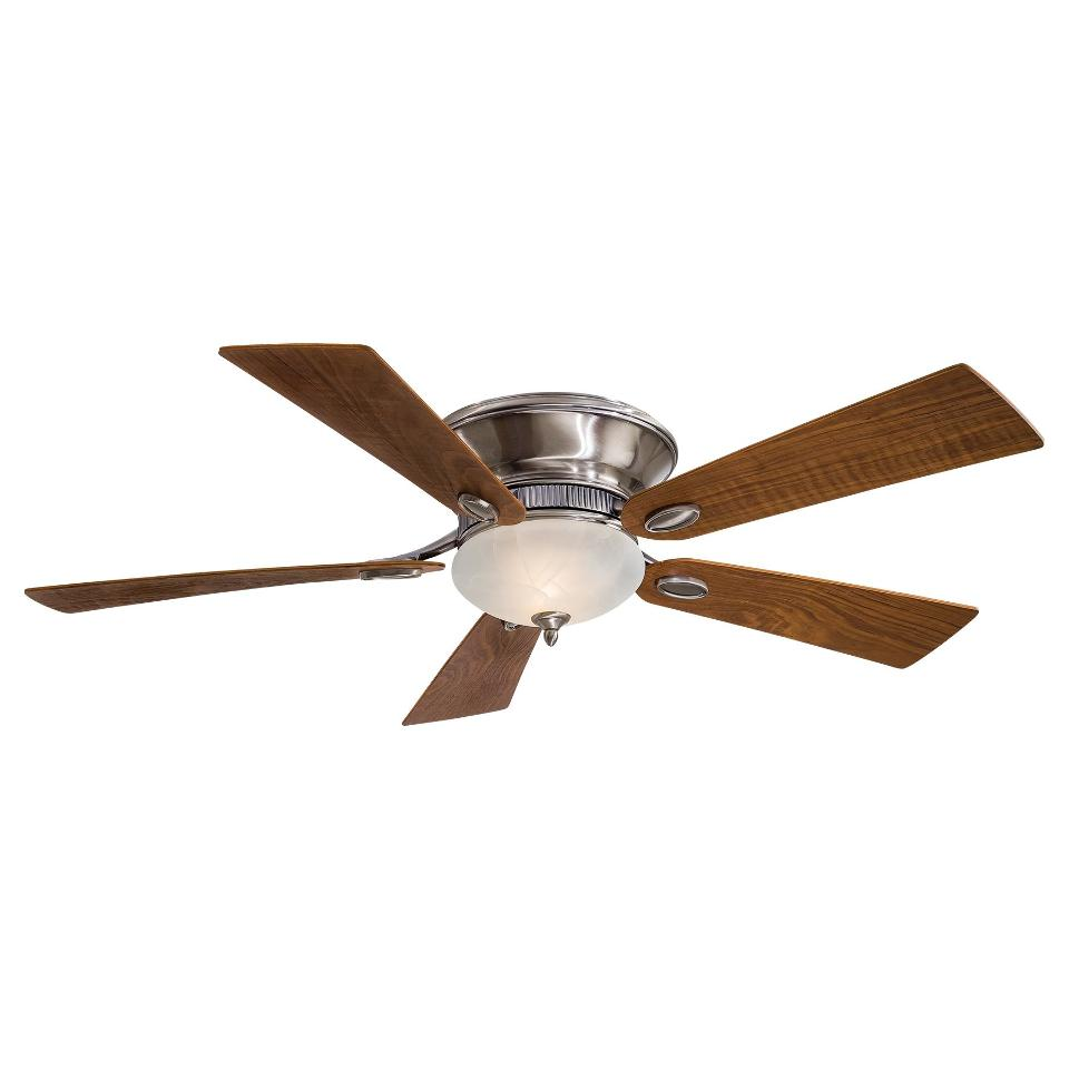 Ceiling Fans Mount: Minka Aire F711 PW Delano II Flush Mount Ceiling Fan W