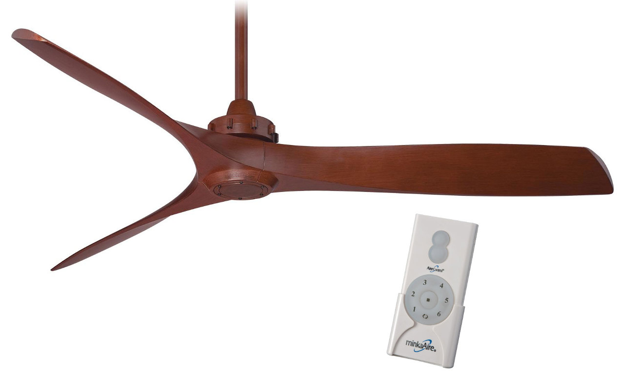 "Minka Aire F853 RW Aviation 60"" Ceiling Fan Rosewood w"