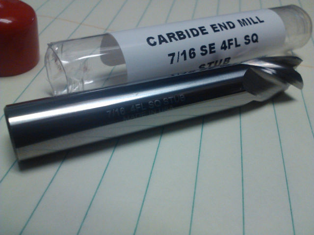 "7/16"" 4 FLUTE SINGLE END STUB LENGTH CARBIDE END MILL"