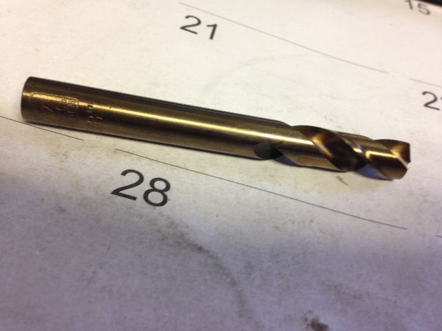 ".3906"" 25/64"" HSS-COBALT SCREW MACHINE LENGTH DRILL"