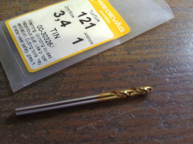 """.1339"""" 3.4mm HSCO TiN STUB DRILL"""