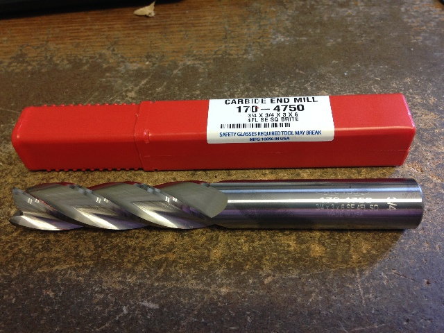 "3//4/"" 4 FLUTE EXTRA-XTRA LONG LENGTH CARBIDE END MILL 3//4/"" x 3//4/"" x 6/"" x 9/"""