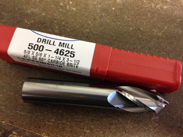 "2 Flute Bright Carbide 1//4/"" Diameter x 90Deg Drill Point End Mill Drill//Mill"