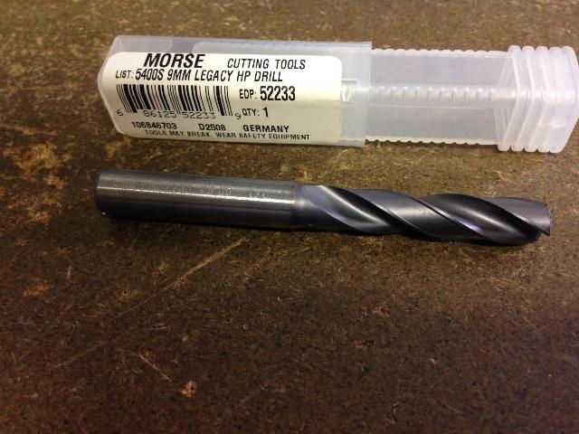 ".3543"" 9mm CARBIDE SHORT LENGTH COOLANT DRILL"