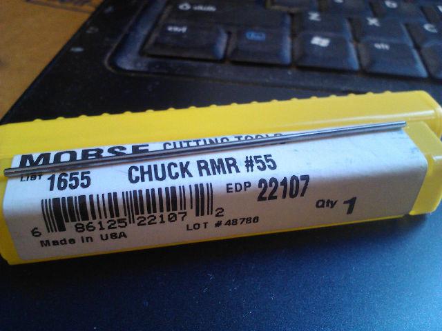 ".0520"" #55 HIGH SPEED STEEL CHUCKING REAMER"