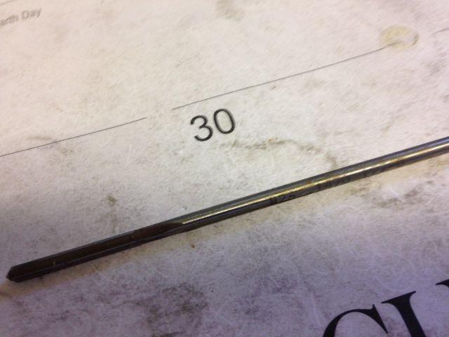 ".1470"" #26 HIGH SPEED STEEL CHUCKING REAMER"