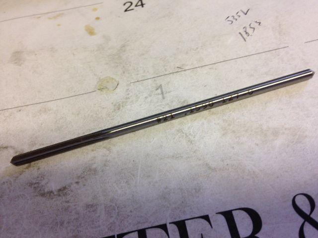 ".1590"" #21 HIGH SPEED STEEL CHUCKING REAMER"
