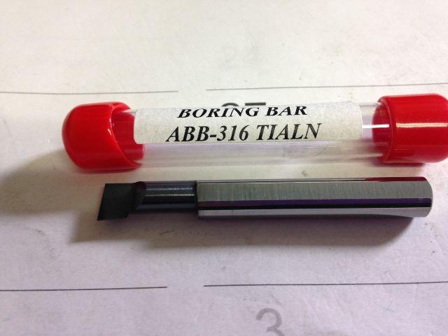 "New 3//16/"" Solid Carbide Boring Bar ABB-183 TiAlN .185/"" Minimum Bore"
