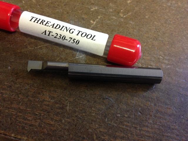 "New 1//4/"" Solid Carbide 60 DegreeThreading Bar AT-180-500"