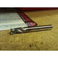 "1/4"" 3 FLUTE SINGLE END STUB .020r TiCN CARBIDE END MILL 1/4"" X 1/4"" X 3/8"" X 2"""