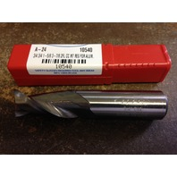 ".750"" 3/4"" 2 FLUTE SINGLE END HIGH SPEED STEEL END MILL FOR ALUM  3/4"" x 3/4"" x 1-5/8"" x 3-7/8"""
