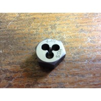 4-40 HIGH SPEED STEEL HEXAGONAL RE-THREADING DIE
