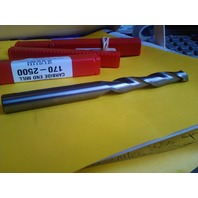 ".500"" 1/2"" 2 FLUTE SINGLE END EXTRA LONG LENGTH CARBIDE END MILL 1/2"" X 1/2"" X 3"" X 6"""