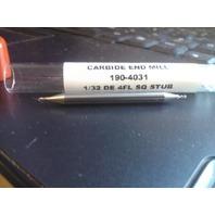 """1/32"""" 4FL DE STUB CARBIDE END MILL"""