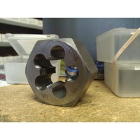 "11/16""-18 CARBON STEEL HEXAGONAL RE-THREADING DIE"