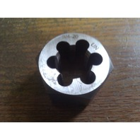 "3/4""-20 CARBON STEEL HEXAGONAL RE-THREADING DIE"