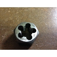 "9/16""-18 LEFT HAND CARBON STEEL HEXAGONAL RE-THREADING DIE"