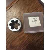 "1""-8 LEFT HAND CARBON STEEL HEXAGONAL RE-THREADING DIE"