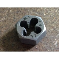 "M6.3 X 1.00 CARBON STEEL HEX DIE 19/32"" ACROSS THE FLATS"