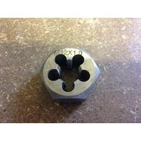 M12 X 1.0 CARBON STEEL HEX RE-THREADING DIE