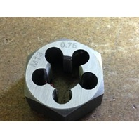 M13 X .75 CARBON STEEL HEX RE-THREADING DIE