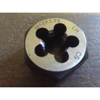 M12 X 1.75 LEFT HAND CARBON STEEL HEXAGONAL RE-THREADING DIE