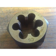 M18 X 1.50 LEFT HAND CARBON STEEL HEXAGONAL RE-THREADING DIE