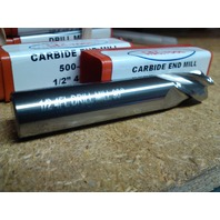 """1/2"""" 4 FLUTE 90 DEGREE POINT ANGLE CARBIDE DRILL MILL"""