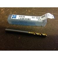 ".1417"" 3.6mm EX-SUS-GOLD COBALT tIN COATED STUB LENGTH DRILL"