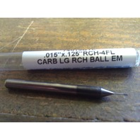 ".015""  4 FLUTE LONG REACH CARBIDE BALL END MILL .015"" X 1/8"" X 1/8"" X 1-1/2"""