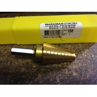 "#2 HIGH SPEED STEEL TiN COATED STEP DRILL 9/16""-1"""