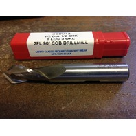 "1/2"" 2 FLUTE 90 DEGREE POINT ANGLE COBALT DRILL MILL"