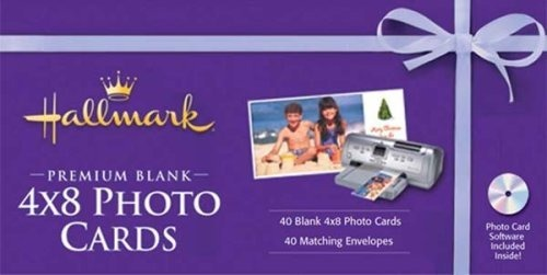 Hallmark Premium Blank 4x8 Photo Cards And Envelopes With Software