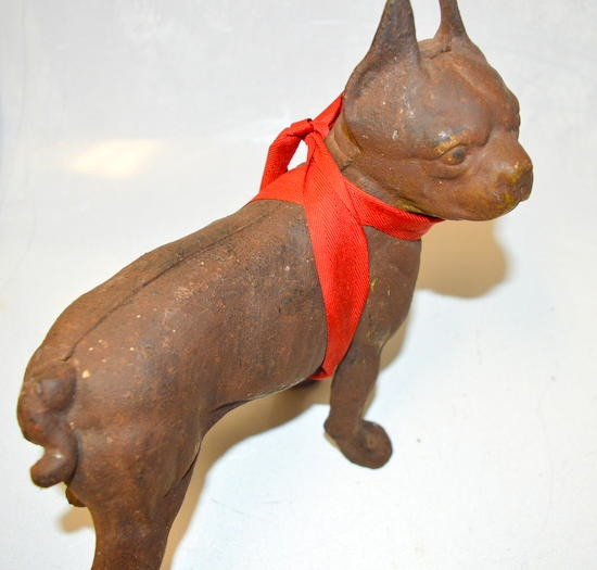 Vintage Cast Iron Boston Terrier Bull Dog Door Stop Surplus