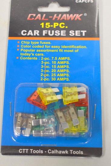 Cal Hawk  Capcfs-15 Pc Car Fuse Set