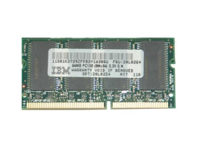 Bundle of 5 IBM laptop RAM chips 64MB PC100 MIT 110