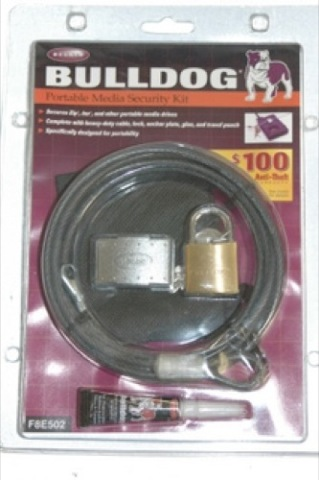 Bulldog Portable Media Security Kit #F8E502  NEW!