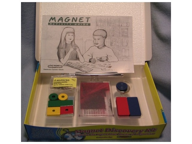 Magnet Discovery Kit - for ages 8 and up. Learn all about magnets. #00300