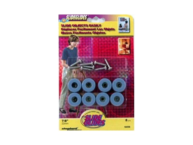 "7/8"" Slide Glide Pads with Screws by Shepherd - 8 pcs #9456"