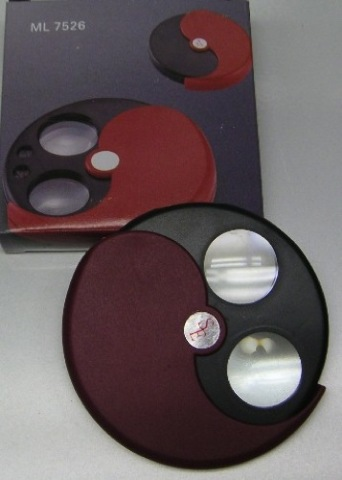 Magnifier 5-12X - Round Wheel with Cover