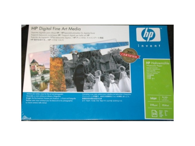 HP Q8729A digital fine art media Hahnemule watercolor