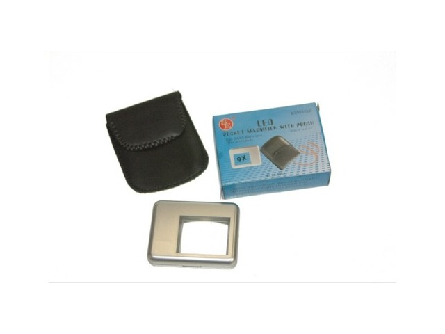 9X Pocket Magnifier with Pouch. -New #ML9855LC