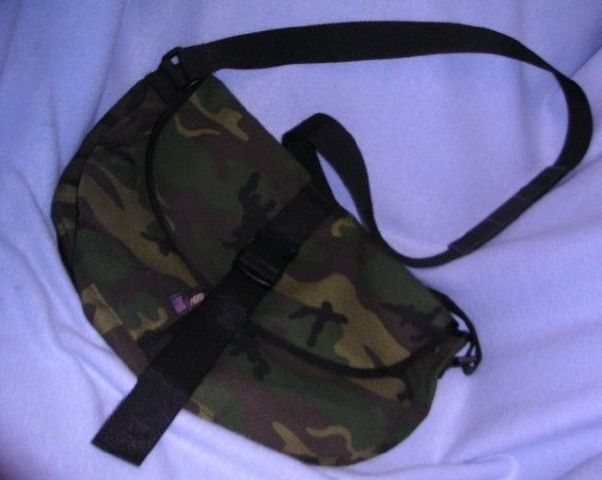 Camo Saddle Bag-Large